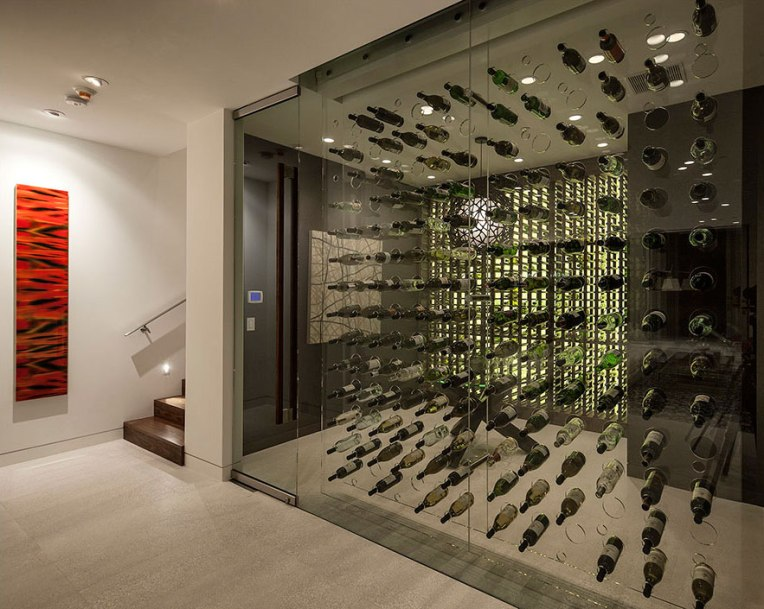 Wine-Room-Magnificent-Modern-Home-on-Sunset-Strip